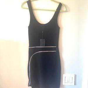 Alexander Wang black cocktail dress with zipper